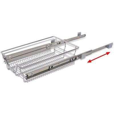 vidaXL Bandejas de alambre extraíbles 2 uds plateado 400 mm