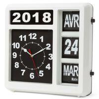Perel Reloj de pared con calendario versión francesa 31x31 cm