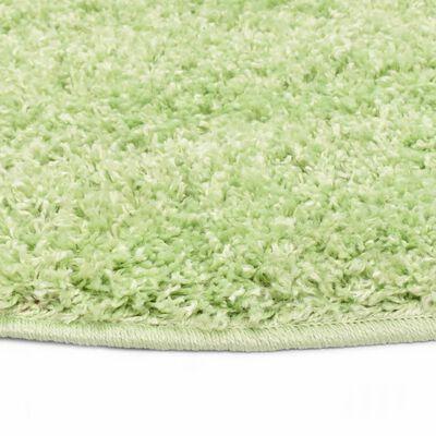 vidaXL Alfombra de pelo verde 120 cm