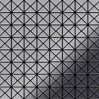 ALLOY Deco-S-S-M Mosaico de metal sólido Acero inoxidable gris