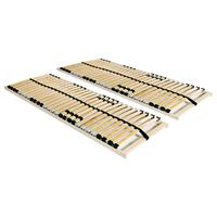 vidaXL Somieres de cama 2 uds con 28 láminas 7 zonas 80x200 cm