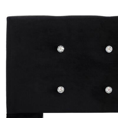 vidaXL Cama con colchón de terciopelo negro 90x200 cm