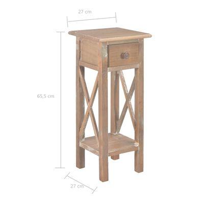 vidaXL Mesa auxiliar de madera marrón 27x27x65,5 cm