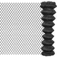 vidaXL Valla de tela metálica acero gris 25x1,5 m
