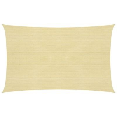 vidaXL Toldo de vela beige HDPE 160 g/m² 3x6 m