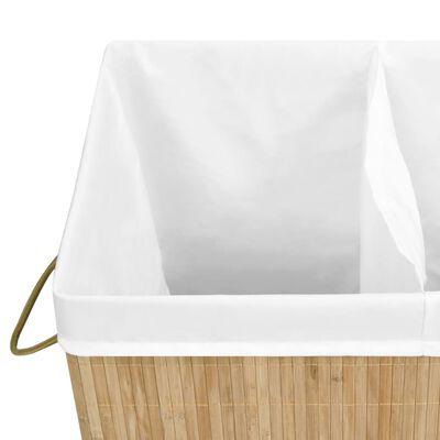 vidaXL Cesto de la ropa sucia de bambú 100 L
