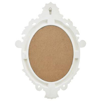 vidaXL Espejo de pared estilo castillo blanco 56x76 cm