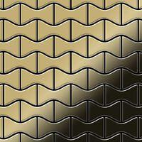 ALLOY Kismet-Ti-GM Mosaico de metal sólido Titanio oro