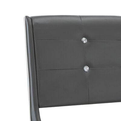 vidaXL Estructura de cama de cuero sintético gris 90x200 cm