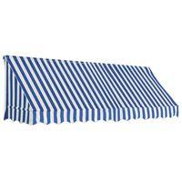 vidaXL Toldo para bar 300x120 cm azul y blanco