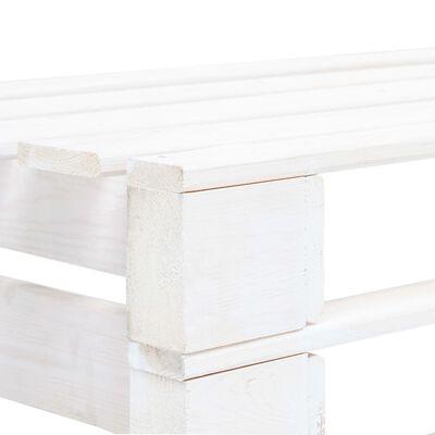 vidaXL Sofá central de palés para jardín madera pino impregnada blanco