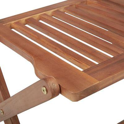 vidaXL Sillas de jardín plegables 8 uds y cojines madera maciza acacia