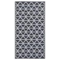 vidaXL Alfombra de exterior PP negro 160x230 cm