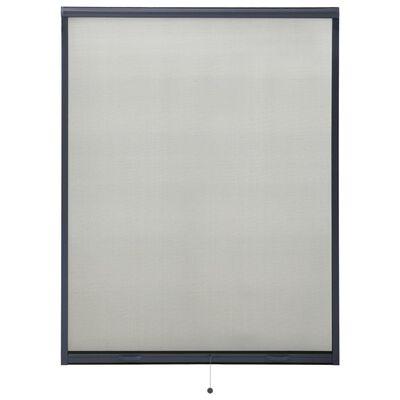 vidaXL Mosquitera enrollable para ventanas gris antracita 120x170 cm