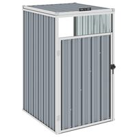 vidaXL Cobertizo para contenedor de basura acero gris 72x81x121 cm