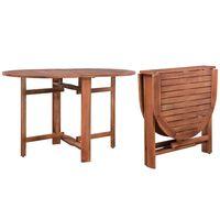 vidaXL Mesa de jardín de madera de acacia maciza 120x70x74 cm