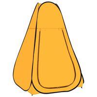 vidaXL Carpa de ducha emergente amarilla