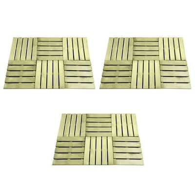vidaXL Baldosa de porche 18 unidades 50x50 cm madera verde