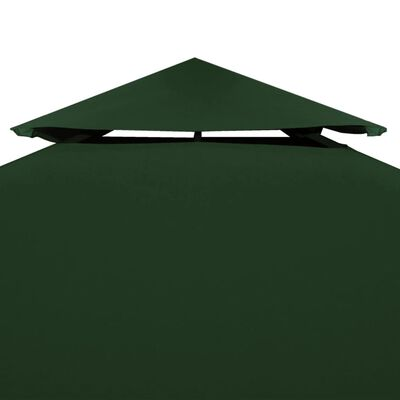 vidaXL Cubierta de repuesto de cenador 310 g/m² verde 3x4 m