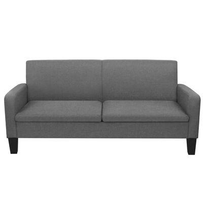 vidaXL Sofá de 3 plazas 180x65x76 cm gris oscuro