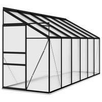 vidaXL Invernadero de aluminio gris antracita 7,77 m³