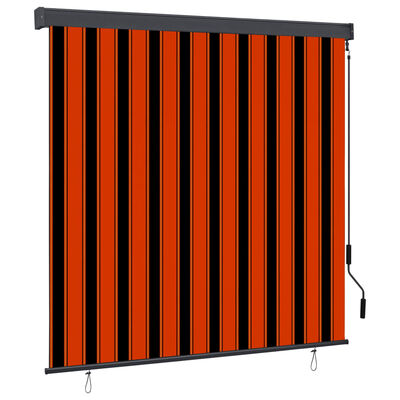 vidaXL Estor enrollable de exterior naranja y marrón 170x250 cm