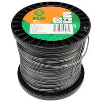 FLO Cable de cortacésped Trigon negro 2,4 mm 90 m