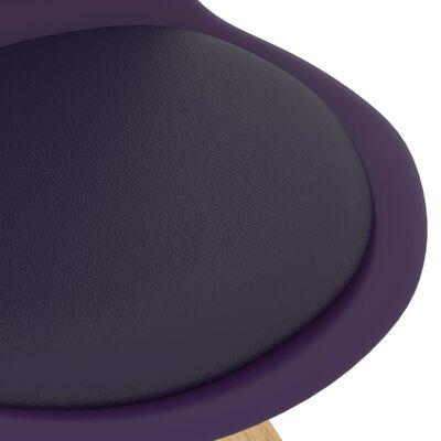 vidaXL Sillas de comedor 6 unidades lila
