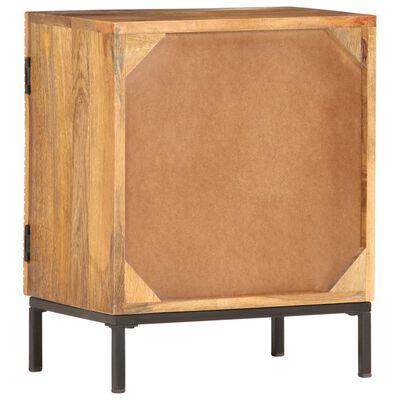 vidaXL Mesita de noche de madera maciza de mango 40x30x50 cm