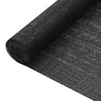 vidaXL Red de privacidad HDPE negro 1,2x10 m 195 g/m²