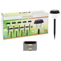 ProGarden Lámparas solares LED de jardín 9 unidades negro