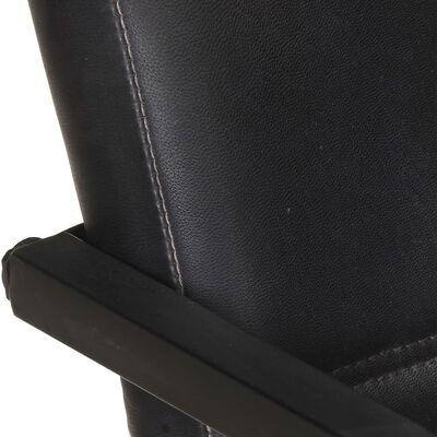 vidaXL Sillas voladizas de comedor 4 unidades cuero auténtico negro