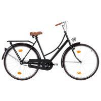 vidaXL Bicicleta holandesa rueda 28 pulgadas cuadro de mujer 57 cm