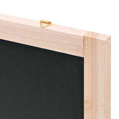 vidaXL Pizarra de pared de madera de cedro 60x80 cm