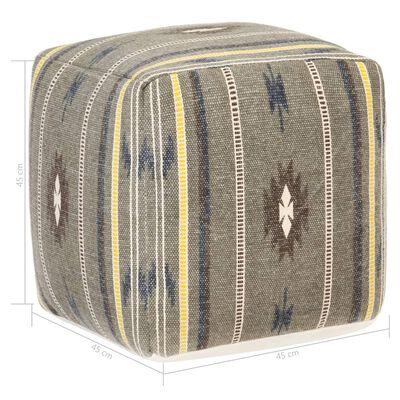 vidaXL Puf de diseño estampado de algodón verde 45x45x45 cm