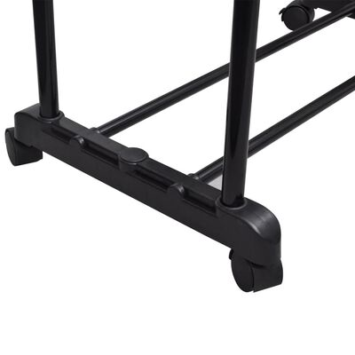 vidaXL Perchero ajustable para ropa 2 barras 2 unidades