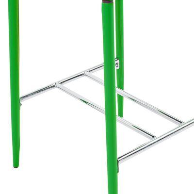 vidaXL Taburetes de cocina 6 unidades cuero sintético verde