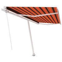 vidaXL Toldo de pie manual retráctil naranja y marrón 400x300 cm