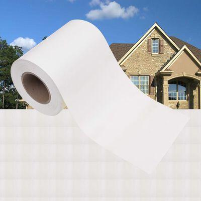 vidaXL Panel de valla de PVC blanco 70x0,19 m