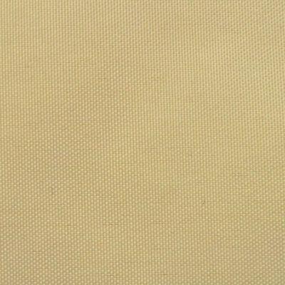 vidaXL Toldo de vela rectangular tela Oxford beige 4x6m