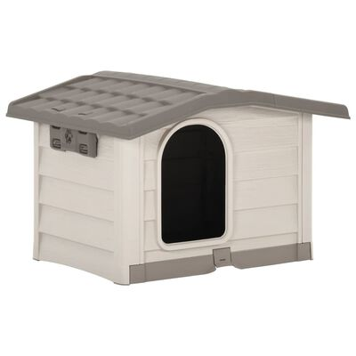 vidaXL Caseta para perros beige y marrón 89x75x62 cm