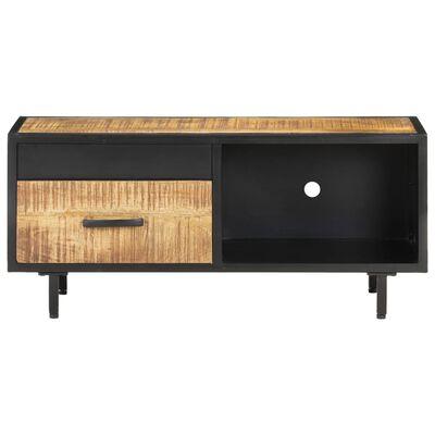 vidaXL Mueble para TV de madera maciza de mango rugosa 90x30x40 cm