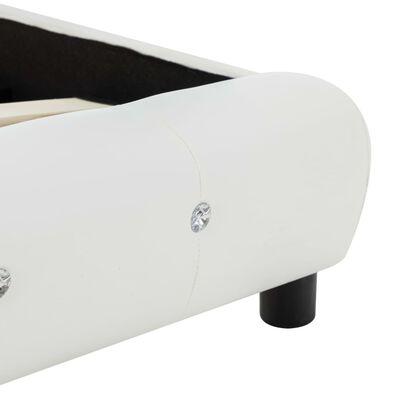 vidaXL Cama con colchón cuero sintético blanco 140x200 cm