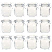 vidaXL Tarros de vidrio con cierre hermético 12 unidades 1 L