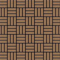 ALLOY Basketweave-Ti-AB Mosaico de metal sólido Titanio cobre