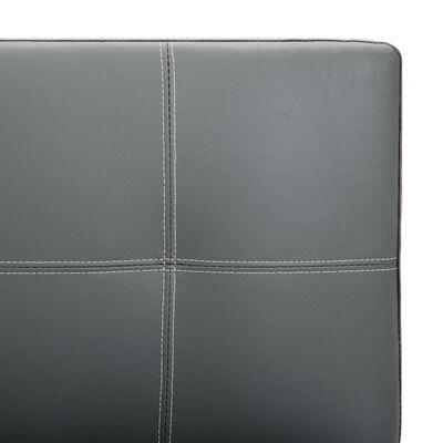 vidaXL Sofá de 2 plazas de cuero sintético gris