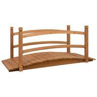 vidaXL Puente de jardín madera maciza de abeto 140x60x60 cm