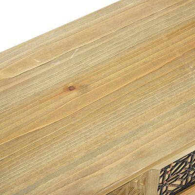 vidaXL Aparador de madera marrón 60x30x56,5 cm