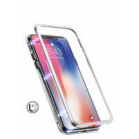 Funda para móvil con cristal templado - iPhone XS Max - Plateado