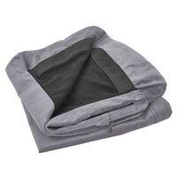 Funda de sillón de terciopelo gris BERNES